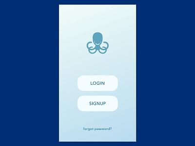Octoport - IoT App - Login UI ui design app design product design ux ui temperature music mobile app iot octoport