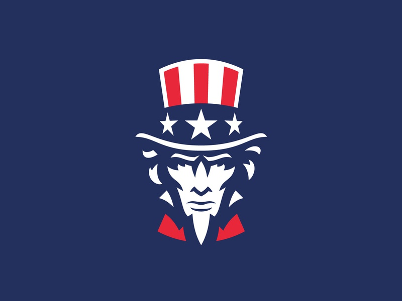 US america usa uncle sam illustration face sport esport logotype mascot logo
