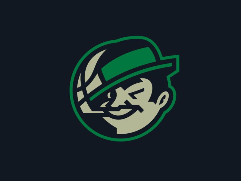 Celtics nba basketball face esport sport logotype mascot logo