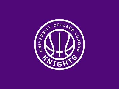 UCL Knights london knights sword purple college nba ball basketball sports esport sport logo