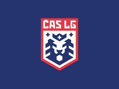 Česká asociace sportu lasergame lion head lasergame lasertag lion esport logotype sport logo