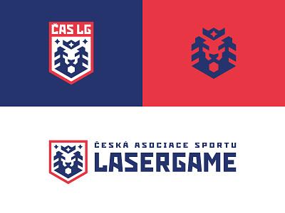 ČAS LG czech lasergame king lion lasertag esport logotype sport logo