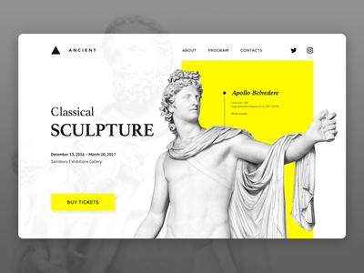 Classical sculpture dailyui ux ui