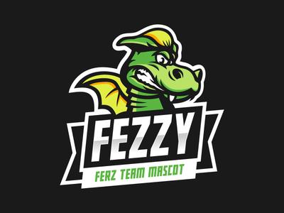 Fezzy sport mascot dragon logotype logo