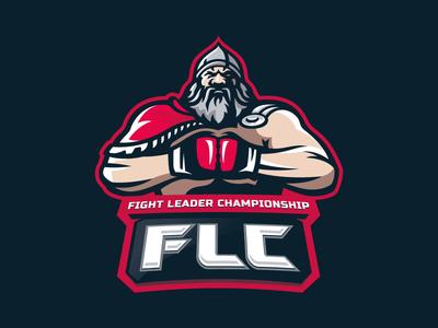 Fight leader championship sport mascot bogatyr logotype logo
