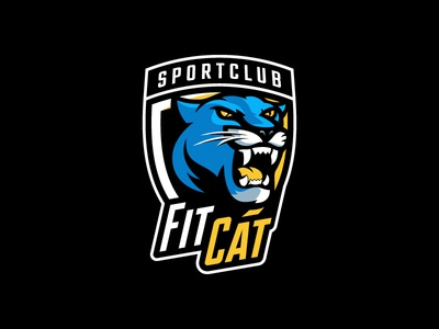 Fitcat sports-logo fitness panther cat animal mascot esport logotype logo