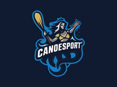 Cecaelia sports-logo canoe queen sea mascot esport logotype logo