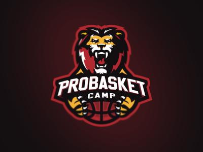 Probasket sports-logo basketball leon lion animal mascot esport logotype logo