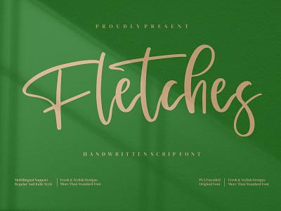 Fletches - Handwritten Script Font script handwriting handwritten drawn