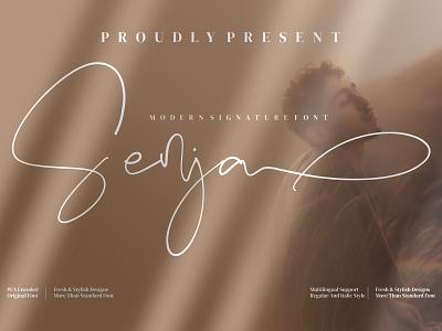 Senja - Signature Font logo illustration design handmade fashion casual branding script handwriting handwritten
