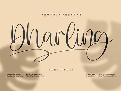 Dharling - Script Font logo illustration design handmade fashion casual script branding handwriting handwritten