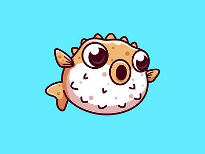 Puffer fish..!! characterdesign drawing characters illustration art design digitalart illustration fish puffer fish