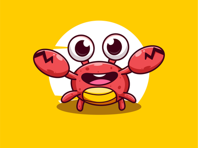 crab.!! design drawing digitalart characters illustration characterdesign illustration art cute fish crab