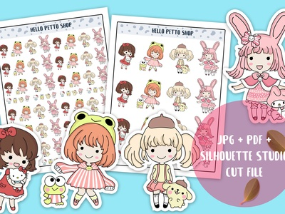 Cute Sanrio Characters Stickers