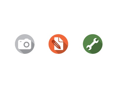 App Icons icons illustration real estate camera notes tool property inspection app circle long shadow
