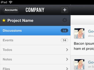 Basecamp 3rd Party iPad App Teaser