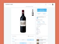 Wine Bottle Details, Content Modules