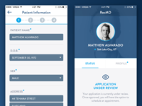 Stepped Customer Application, New User Onboarding