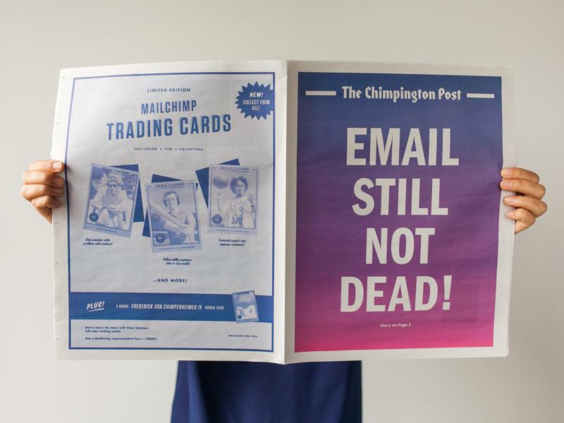 The Chimpington Post newspaper typography