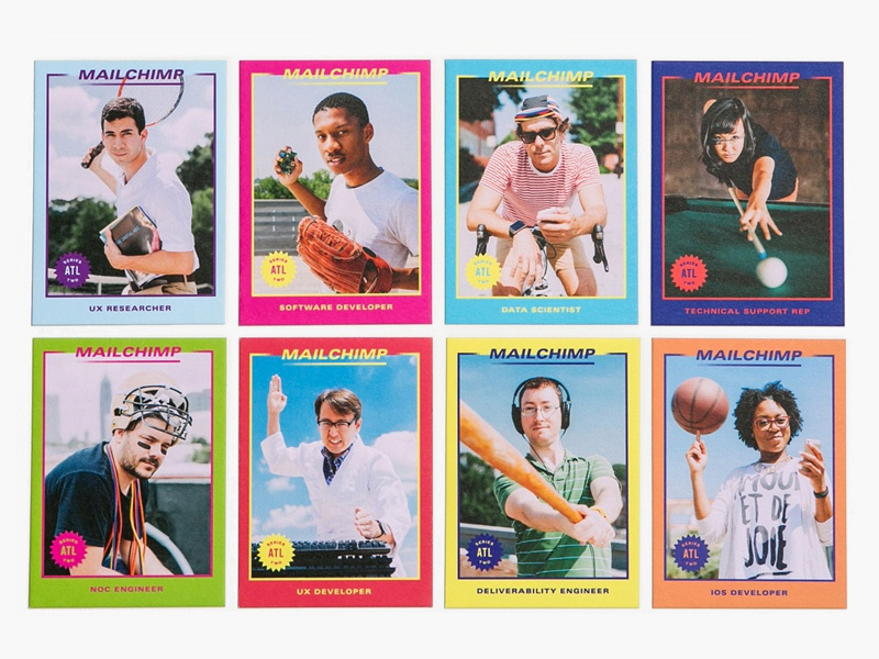 MailChimp Series Two color trading cards
