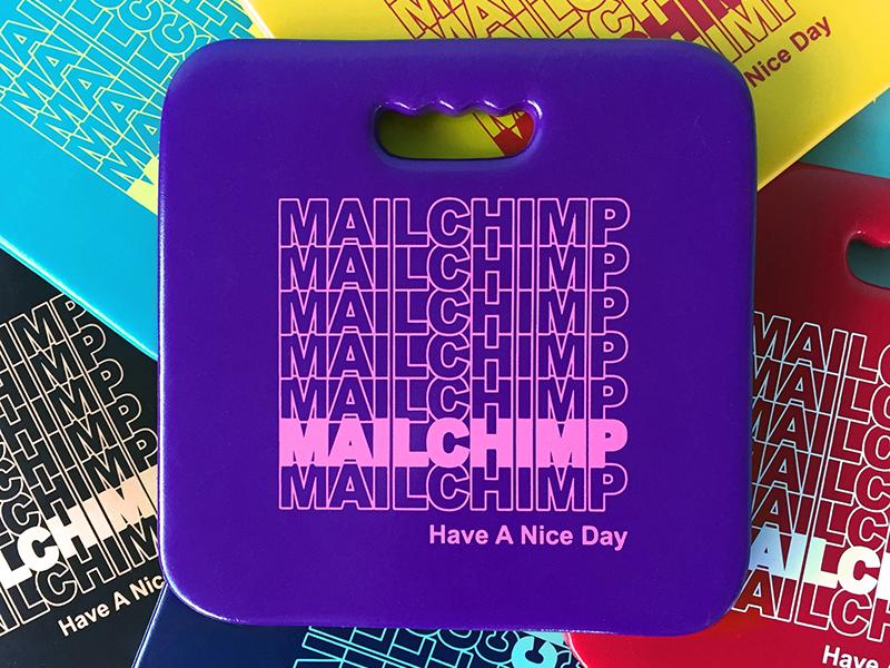 MailChimp Butt Cushion thank you bag