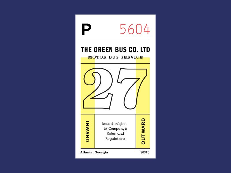 Ticket typography