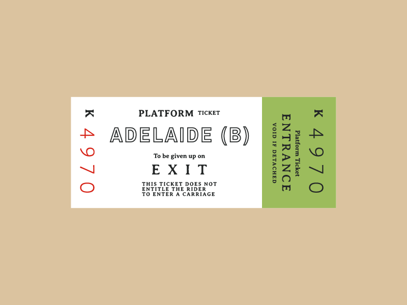 Ticket 3 typography