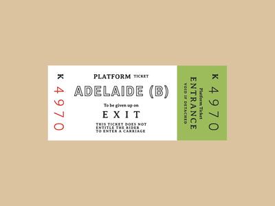 Ticket 3 typography