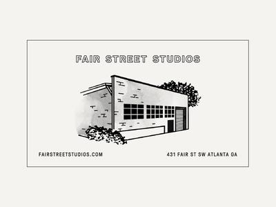 Fair Street Studios building typography illustration