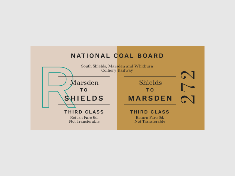 Ticket 4 layout typography