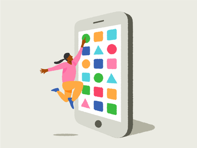 Those giant phones phone illustration