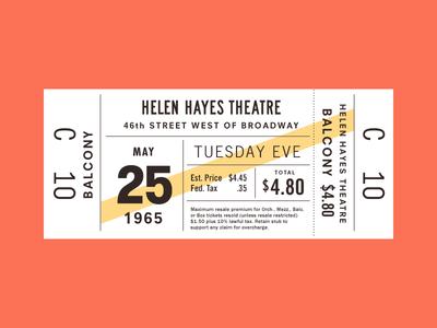 Ticket 5 typography
