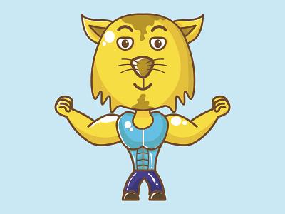 bodybuilderCat mascot bodybuilder mascot cat cartoon bodybuilder cartoon cat mascular masculine bodybuilding bodybuilder cat vector illustration design mascot chibi cartoon