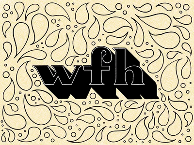 Day 34: 100 Days of Hand Lettering pattern white tan black home work wfh 100daysofhandlettering 100daychallenge video process ipad procreate type 100dayproject lettering hand lettering design typography illustration