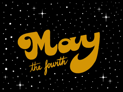 Day 35: 100 Days of Hand Lettering type 100daychallenge 100daysofhandlettering 100dayproject lettering design hand lettering typography process video ipad procreate space yellow black stars may maythefourth star wars starwars