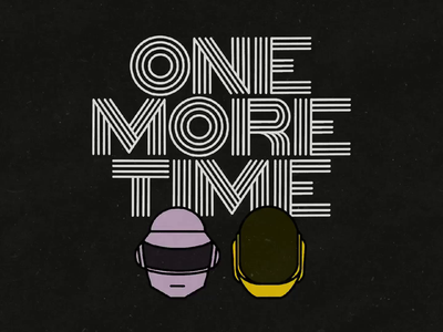 Day 42: 100 Days of Hand Lettering one more time electronic music daft punk 100daysofhandlettering type 100dayproject lettering hand lettering typography illustration
