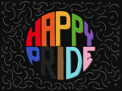 Day 44: 100 Days of Hand Lettering 100daysofhandlettering progress rainbow procreate type 100dayproject lettering hand lettering typography illustration pride
