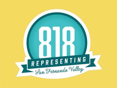 San Fernando Valley Area Code Sticker