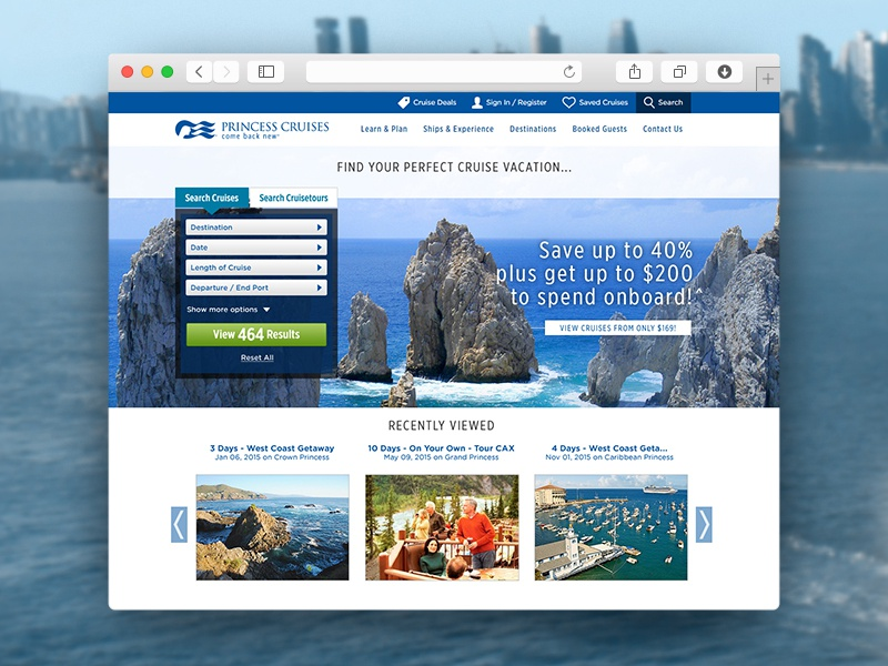 Advanced Search princess cruises recent promos search