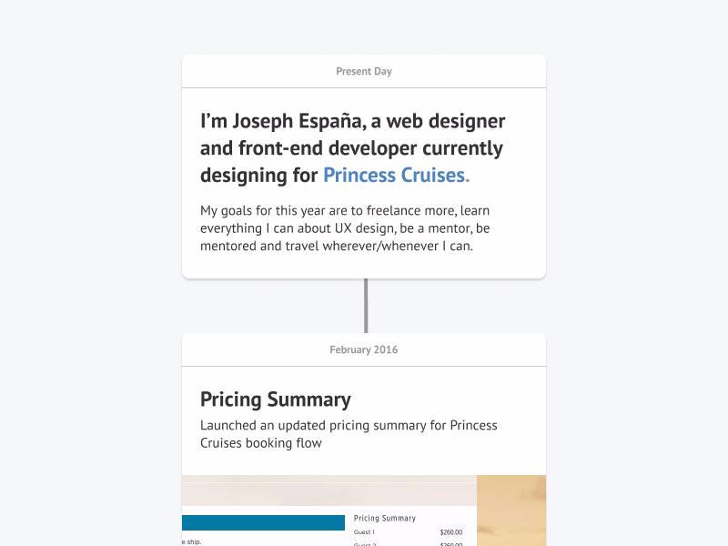 Portfolio Preview v3 web design designer figma portfolio cards timeline card