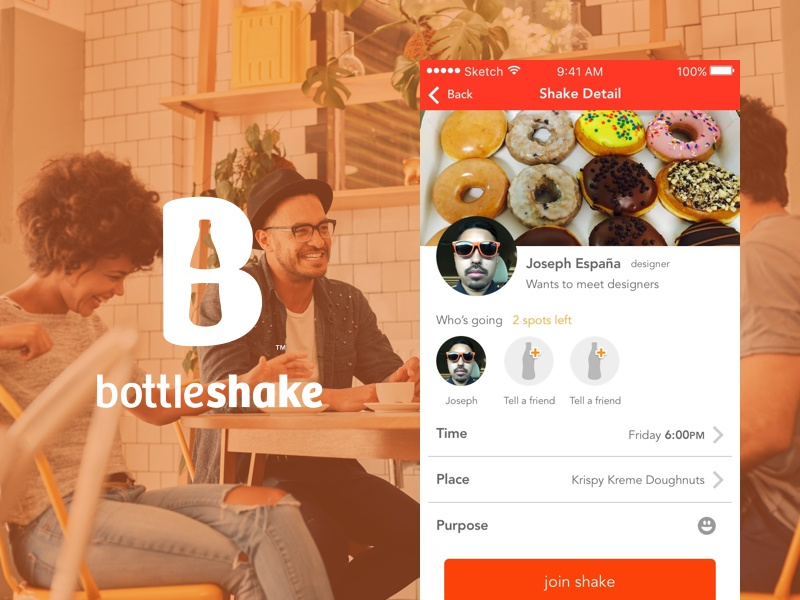 Bottleshake app design mobile design app profile meeting network ios mobile