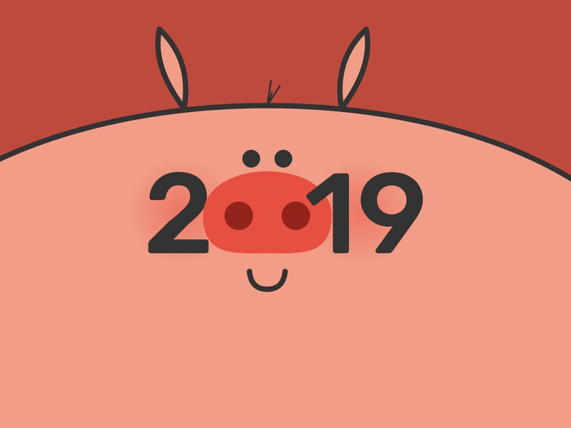 Year Of The Pig 2019 chinese new year cny new year 2019 pig digital art illustration vector lunar new year
