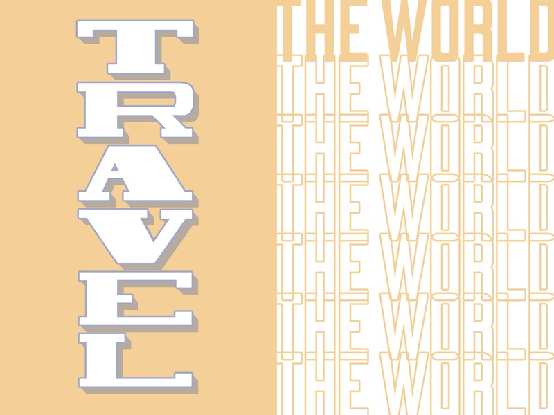 Travel the World: Part 4 world travel type 100daysofhandlettering 100dayproject lettering hand lettering design typography illustration