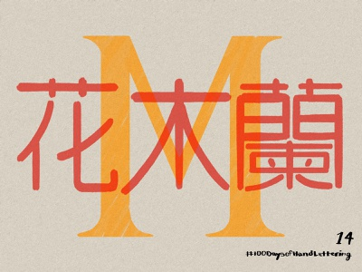 Day 14: 100 Days of Hand Lettering disney chinese red mulan cantonese 100dayproject lettering hand lettering design typography illustration