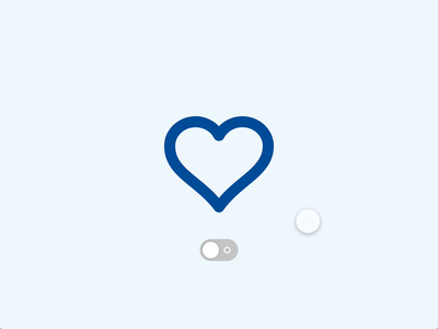 States in Adobe XD source file source blue toggle switch toggle heart vector icon iconography design interactiondesign interaction animation ui xd adobe adobe xd states
