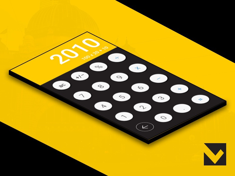 DailyUI 004 - Calculator yellow melbourne dailyui concept calculator black bank 004