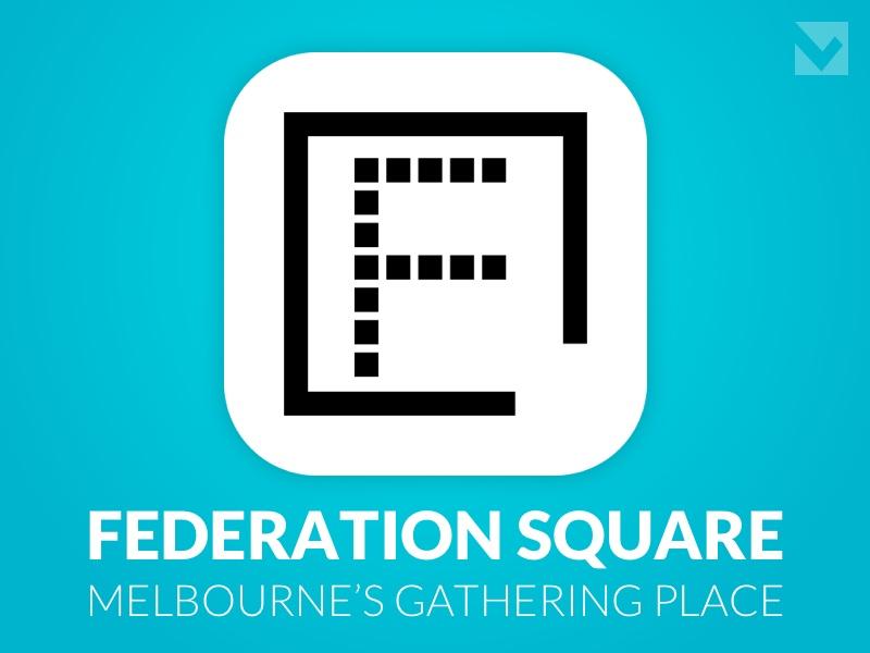DailyUI 005  - App Icon app icon app icon concept fedquare federation square melbourne 005 dailyui