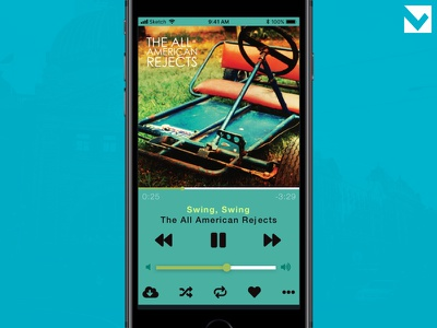 DailyUI 009 - Music Player 009 dailyui player iphone audio app music