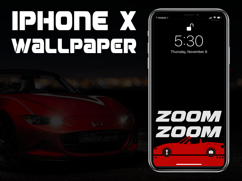 Iphone X Miata Car Wallpaper by Leo
