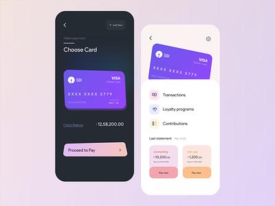 Payments App - Mobile UI payment app debit card app ui mobile app modern clean product product design credit card finance banking card design app mobile design mobile mobile ui ui ux minimal